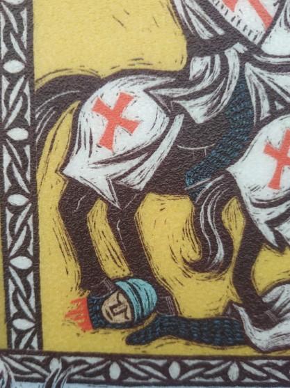 ראש צלבני כרות - פרט קומיקס